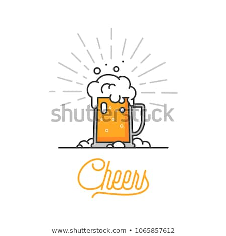 Glass of craft beer with foam isolated icon Stock photo © studioworkstock