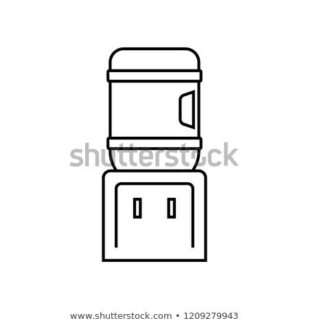 Water cooler dispenser icon in linear style Stock photo © studioworkstock