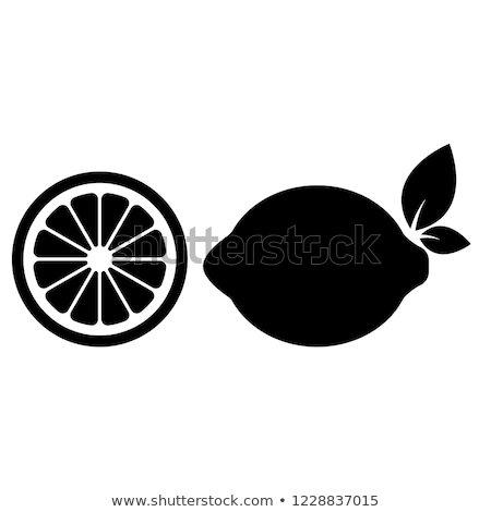 Lemon silhouette Stock photo © deandrobot