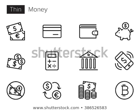 Calculadora bitcoin negócio dinheiro caneta Foto stock © Zerbor