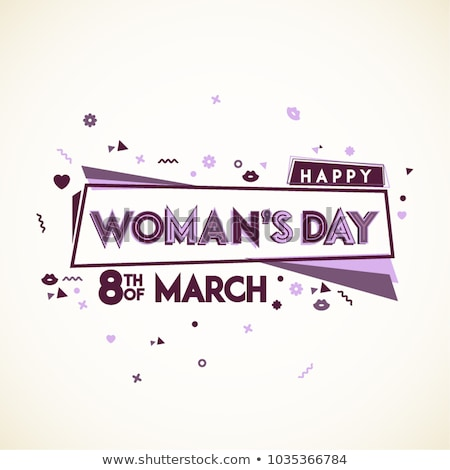 Happy Women's Day Illustration with Abstract 8 March Typography Letter on Pink Background. Vector Sp Stock photo © articular