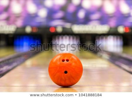 ボウリングボール コーン ゲーム 指 喜び 弾丸 ストックフォト © Ustofre9