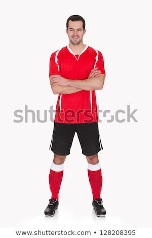 Portret voetballer permanente jeugd glimlachend Stockfoto © wavebreak_media