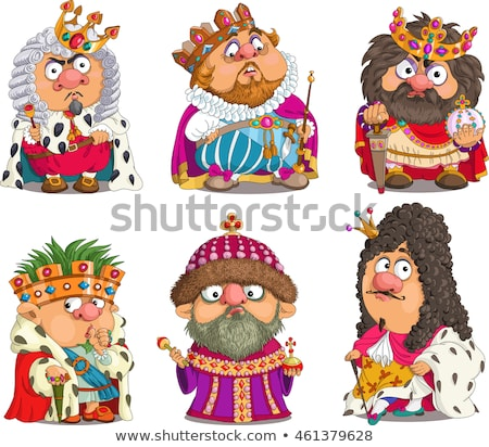 Caricature Man King Costume Stock photo © lenm