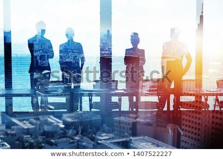 Gruppo business partner guardando futuro corporate avvio Foto d'archivio © alphaspirit