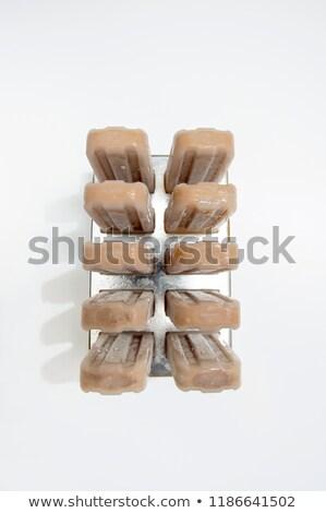 冷たい チョコレート デザート スティック プラスチック フォーム ストックフォト © artjazz
