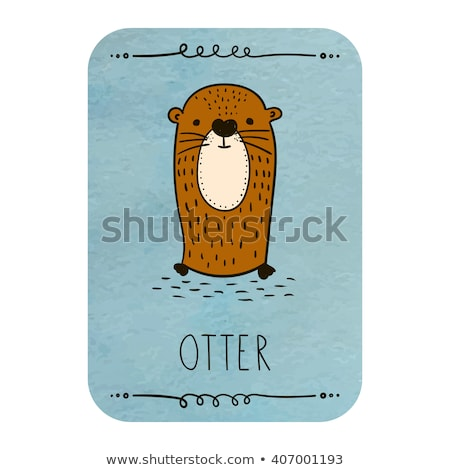 Sly Cartoon Otter Stock photo © cthoman