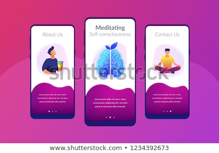 Calmness and releasing stress concept app interface template. Stock photo © RAStudio