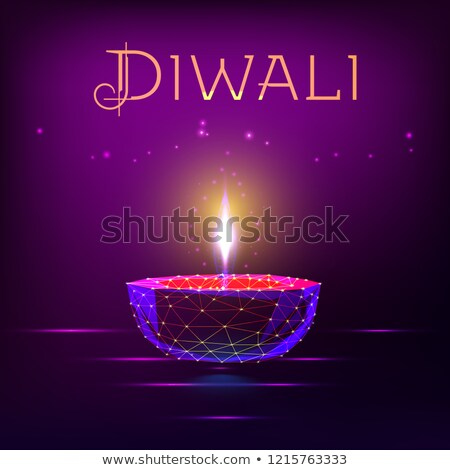 dark diwali background with floating diyas Stock photo © SArts