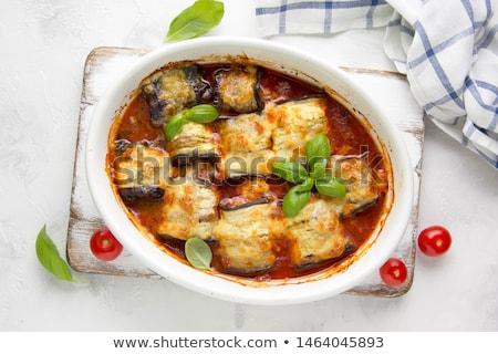 Turco berinjela carne jantar almoço Foto stock © zoryanchik