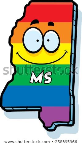 Cartoon Mississippi Gay Marriage Stock photo © cthoman