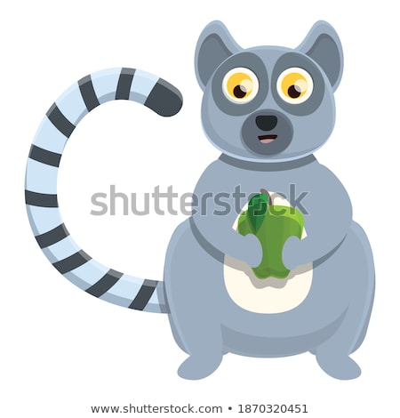 Surprised Cartoon Lemur Stock photo © cthoman