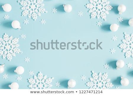 ayarlamak · mavi · kar · taneleri · simgeler · mandala · Noel - stok fotoğraf © dash