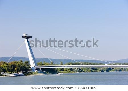 Novo ponte Bratislava Eslováquia Foto stock © phbcz