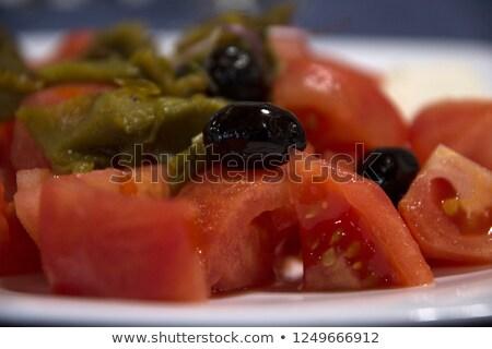 Macro foto preparado vegetal salada Foto stock © artjazz