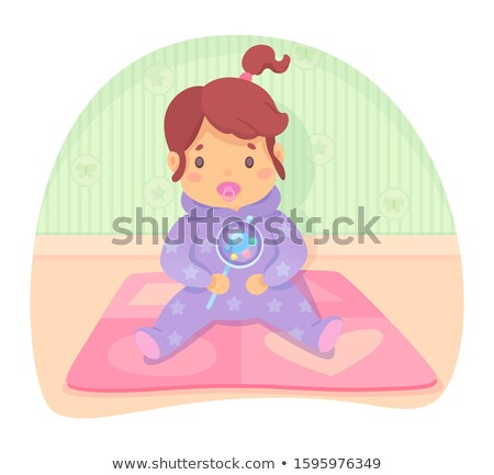 Small Kid with Dummy in Mouth Vector Illustration Stock photo © robuart