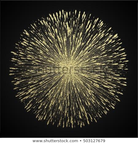Golden star burst with ray vector on black Stock photo © m_pavlov