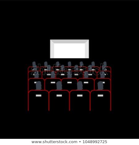 лекция зале кино люди сидеть презентация Сток-фото © MaryValery