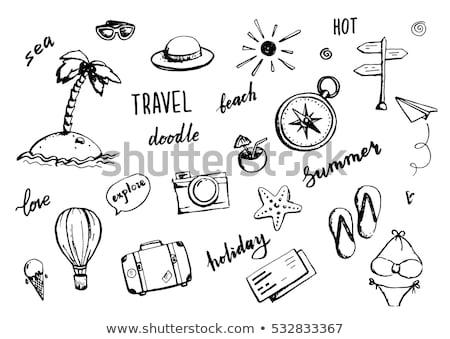 Podróży bagażu ilustracja Pokaż projektu Zdjęcia stock © bluering