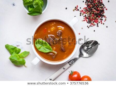 Gedroogd kers paprika top geheel Stockfoto © maxsol7