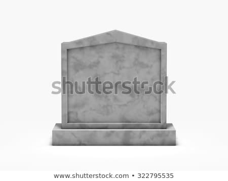 Mezar taşı mermer yalıtılmış beyaz doğa arka plan Stok fotoğraf © vapi