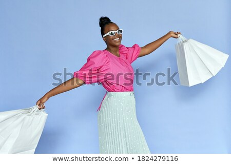 Kép divatos nő 20-as évek visel alkalmi ruha Stock fotó © deandrobot