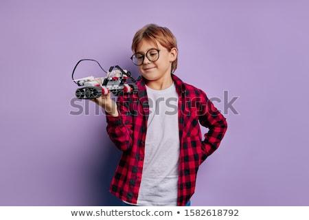 Piccolo robot idea cartoon illustrazione felice Foto d'archivio © cthoman