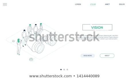 business vision   modern isometric vector website header stock photo © decorwithme