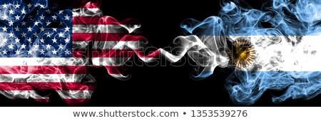 Two waving flags of United States and argentina Stock photo © MikhailMishchenko