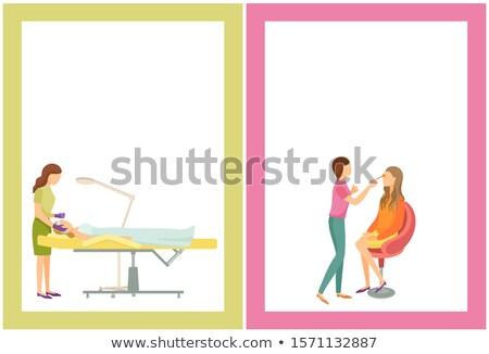 Smink szolgáltatások fürdő szalon plakátok szöveg Stock fotó © robuart