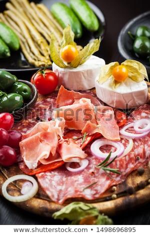 Serrano ham variatie voorgerechten voedsel brood Stockfoto © brebca