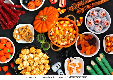 gummy worms and candies for halloween party Stock photo © dolgachov