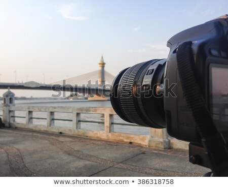 Photographer with Powerful Lens Digital Camera Stock photo © robuart