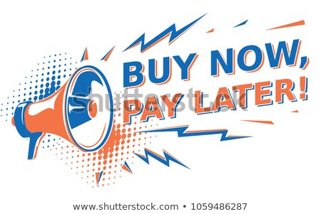 Mega Discount Buy Now Poster Vector Illustration Stock photo © robuart