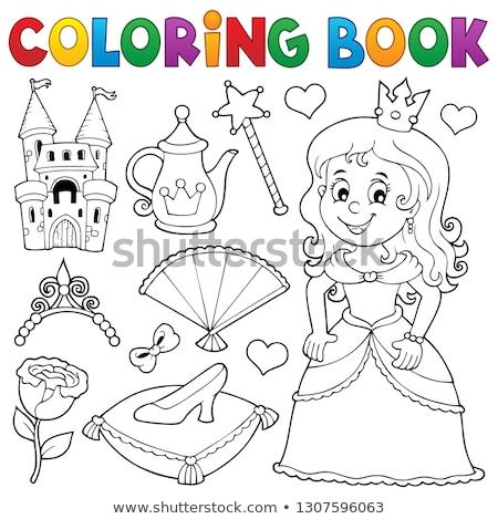 Stockfoto: Prinses · onderwerp · ingesteld · meisje · gebouw · steeg