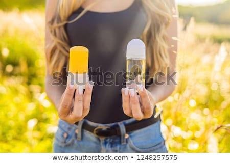 Zero desperdiçar naturalismo desodorante químico verde Foto stock © galitskaya