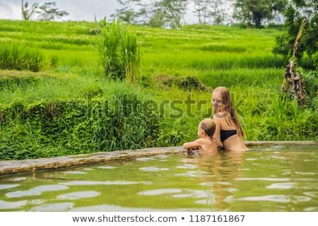Maman fils chaud bali riz Photo stock © galitskaya