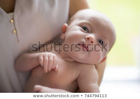 feliz · madre · recién · nacido · bebé · nacimiento - foto stock © lopolo