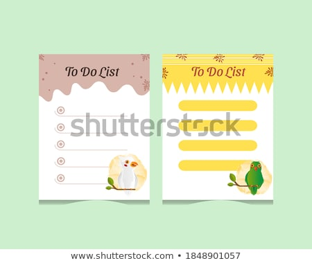 Papegaai nota illustratie textuur achtergrond frame Stockfoto © bluering
