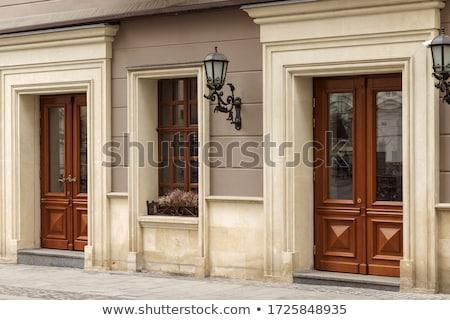 Ahşap kapı pencere örnek arka plan sanat Stok fotoğraf © colematt