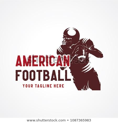 man · amerikaanse · voetbal · bal · geïsoleerd · blanke · man - stockfoto © elnur