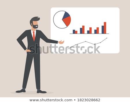 Financière analytique présentation homme costume Photo stock © robuart