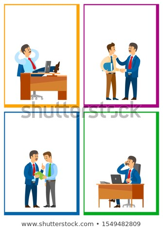 Working Break, Order at Workplace, Work Task Stock photo © robuart
