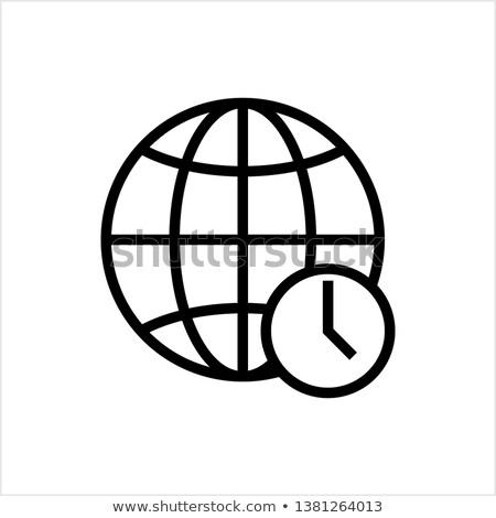 World time icon vector illustration isolated on white. Stock photo © kyryloff