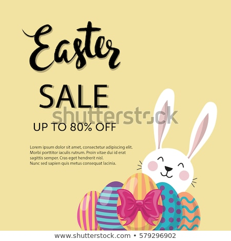 Stock photo: Vector Illustration of Happy Easter Holiday with Colorful Flower and Paper Cutting Egg Symbol on Shi