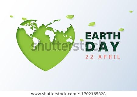 Madre día de la tierra tarjeta reciclado papel corte Foto stock © cienpies