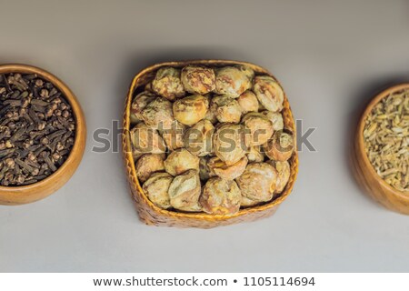Different kinds of spices of Malay Asian cuisine in bags Stock photo © galitskaya