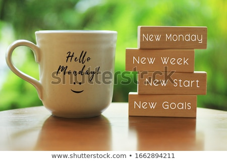 New Monday New Week New Goals Zdjęcia stock © ivelin
