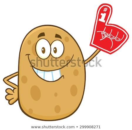 Feliz papa espuma dedo Foto stock © hittoon