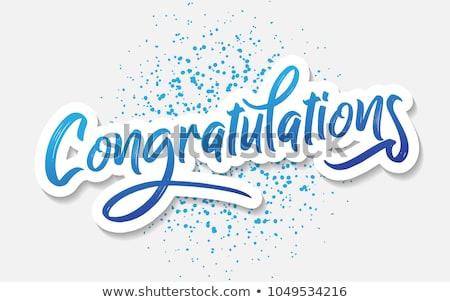 karty · szablon · gratulacje · słowo · ilustracja · papieru - zdjęcia stock © pikepicture